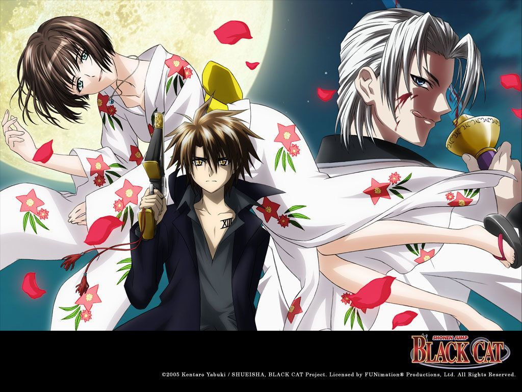 Tags Anime Black Cat Series 1024x768 Wallpaper Train Heartnet