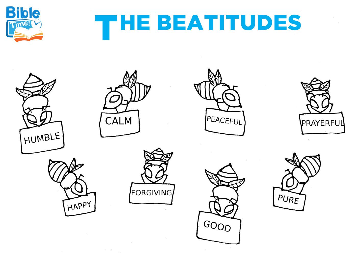 Free Beatitudes Bible Coloring Page Coloring Sheets For Toddlers