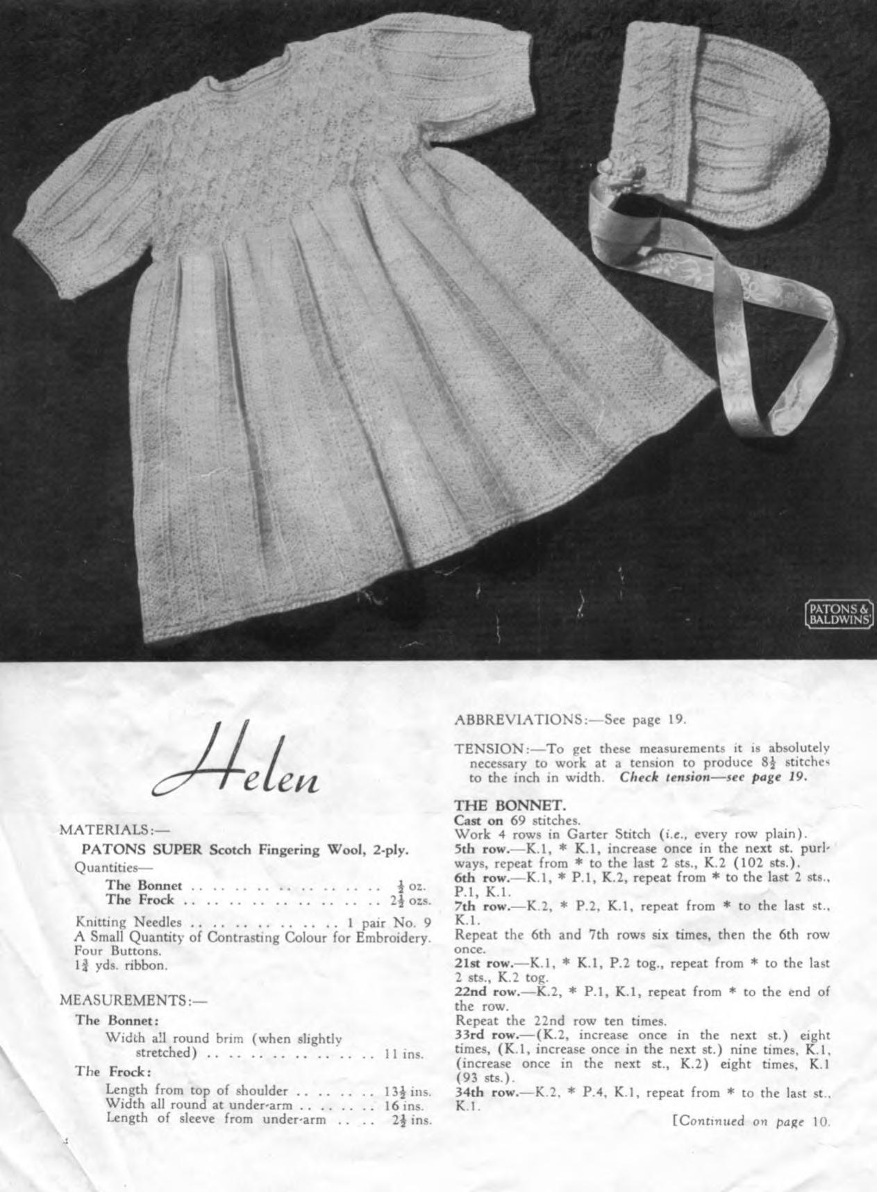 Patons 164 Vintage Baby Knits | Babies | Pinterest | Baby knitting ...