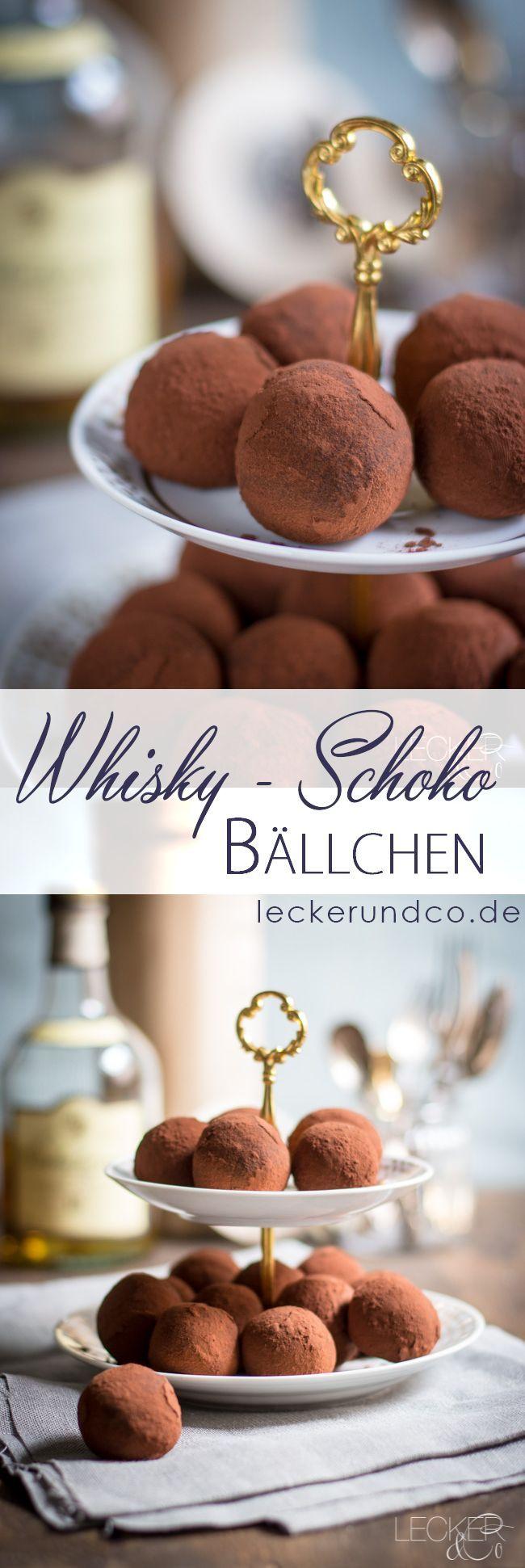 Whisky Schokoladen Bällchen | LECKER&Co | Foodblog aus Nürnberg