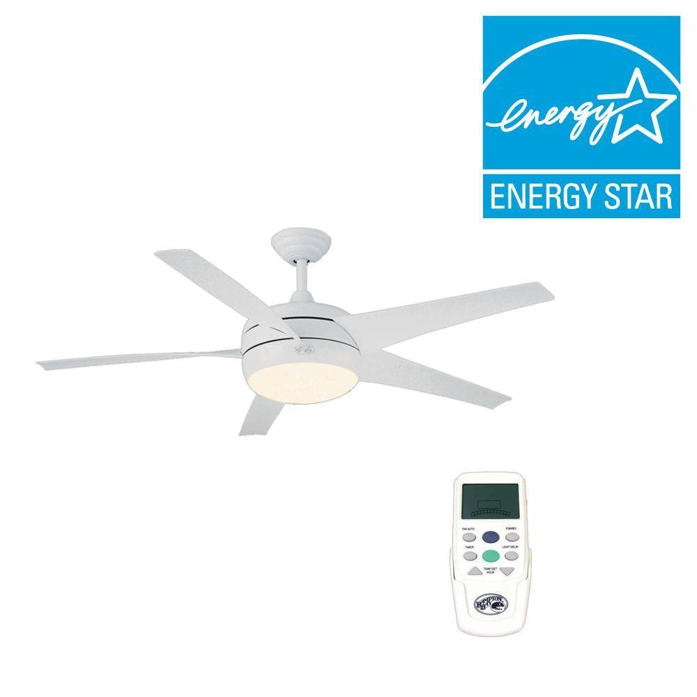 Hampton Bay Windward Ii 54 In White Ceiling Fan 55296