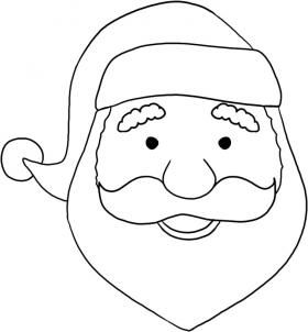 How To Draw A Santa Face By Dawn How To Draw Santa Easy