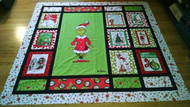 Grinch Quilted Christmas Gifts Christmas Quilt Patterns
