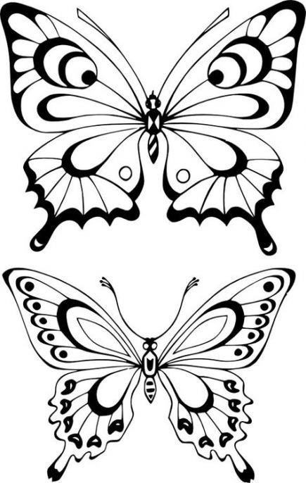 Free Printable Butterfly Templates Different Size Butterflies Belarabyapps Butterfly Outline Butterfly Coloring Page Butterfly Printable