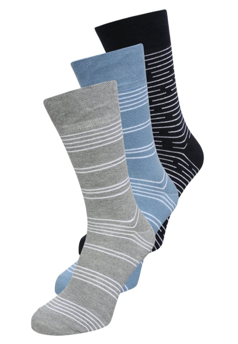 Envíos gratis a toda España. Pier One 3 PACK Calcetines blue grey  Pier One  3 PACK Calcetines ... 6fd50a55705