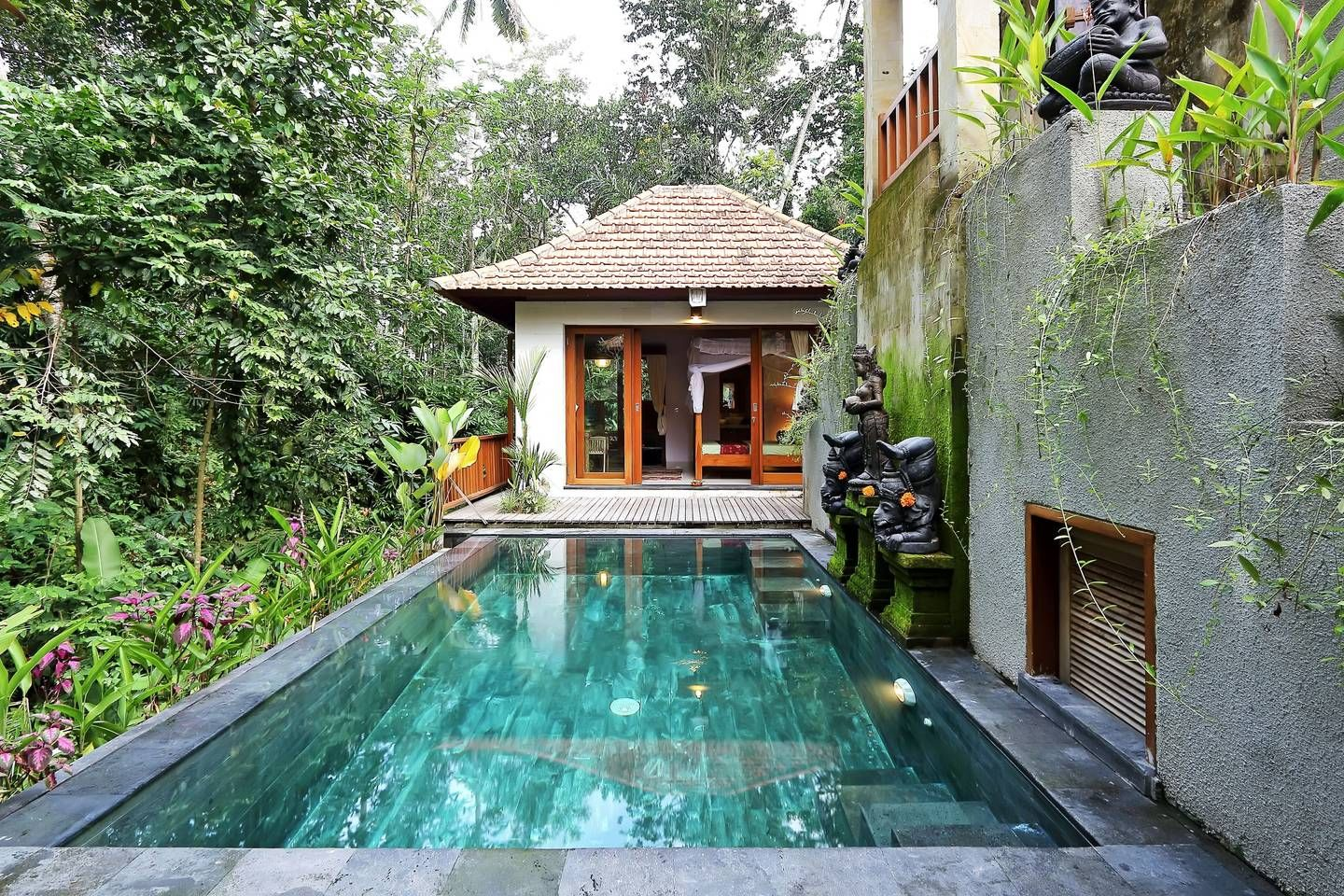 Gorgeous Jungle View 1br Villa Pool Rice Fields Villas For Rent In Ubud Bali Indonesia Indonesia
