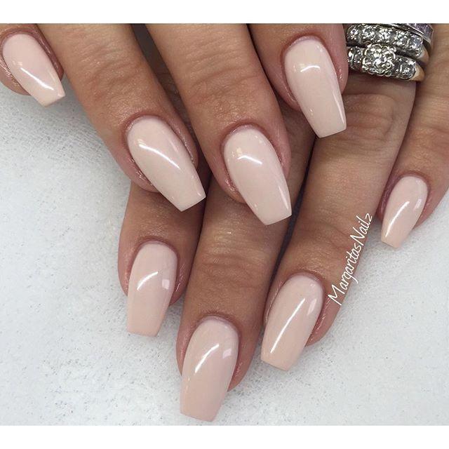 Nude#gelnails #coffinnails #nails #MargaritasNailz #colorgel ...