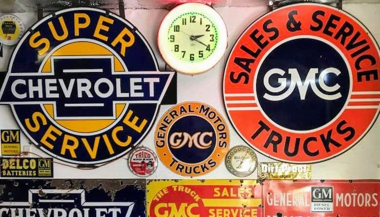 Original Chevrolet Amp Gmc Porcelain Signs Porcelain Amp Tin