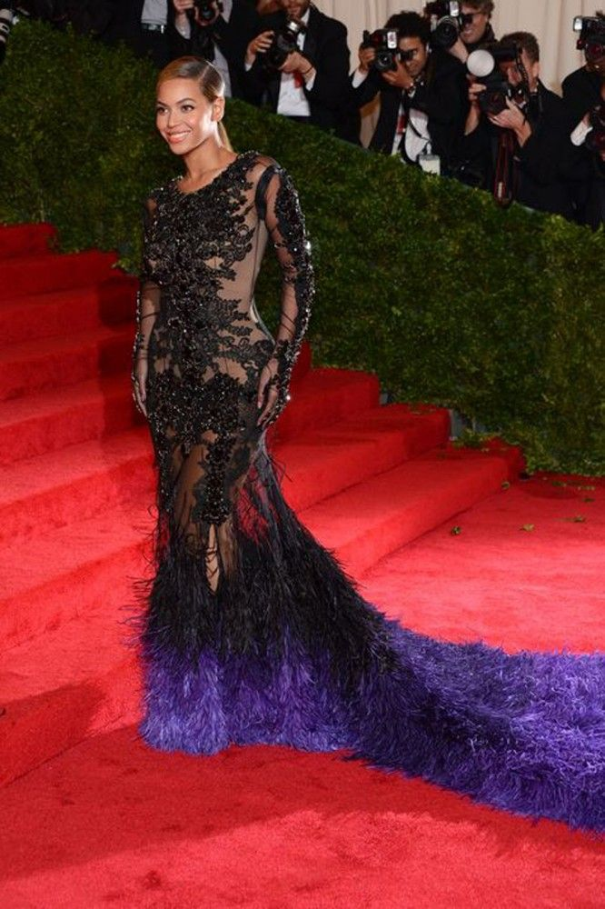 Givenchy Haute Couture by Riccardo Tisci dress was handcrafted for Beyonce to wear to the Met Gala