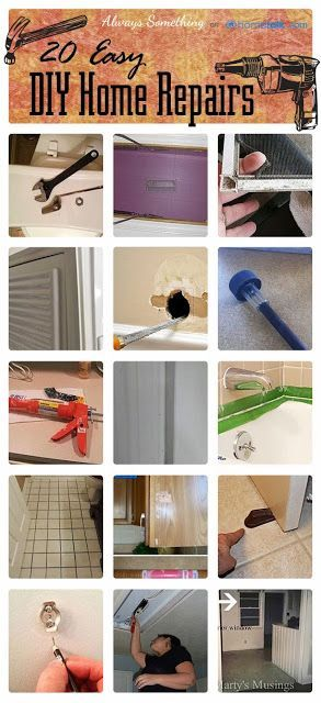 A list of home repairs that you can do yourself. I didn't know a lot of these!