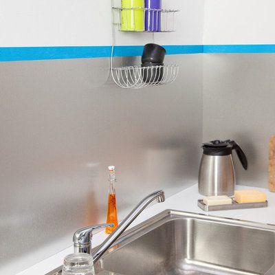 Poser une crédence de cuisine en aluminium