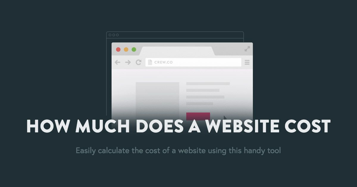 HOW MUCH DOES A WEBSITE COST Easily calculate the cost of