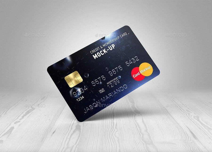 Credit / Bank Card MockUp Debit card design, Credit