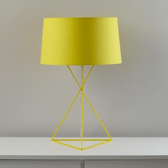 The Land Of Nod Kids Lighting Yellow Steel Wire Table Lamp In All Lighting Yellow Table Lamp Table Lamp Yellow Lamp
