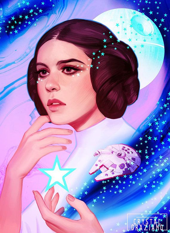 Princess Leia Star Wars Art Print 8x10 inch Open Edition