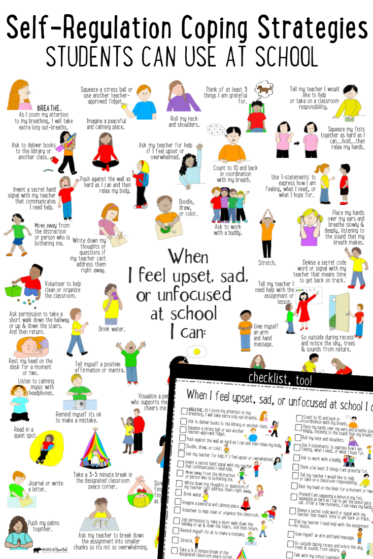 Classroom Management Techniques For Elementary Students ~ Self regulation coping strategies use in your take a