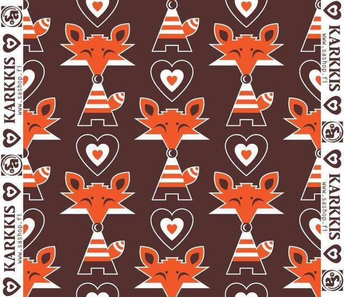 Sari Ahokainen Fuchs Fox Karkiss Herzen BIO Jersey von Rotznaeschenmode auf DaWanda.com