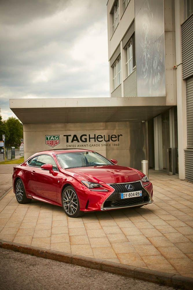 Im Lexus RC 300h zu TAG Heuer - AWR Magazin