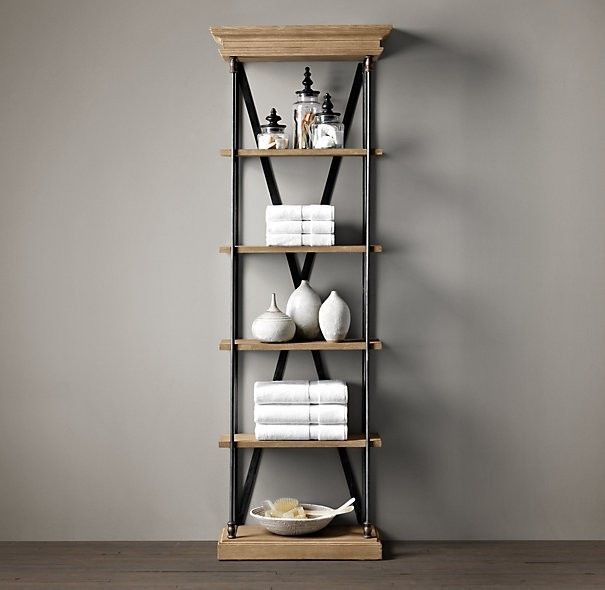 American Country To Do The Old Wrought Iron Wood Shelving