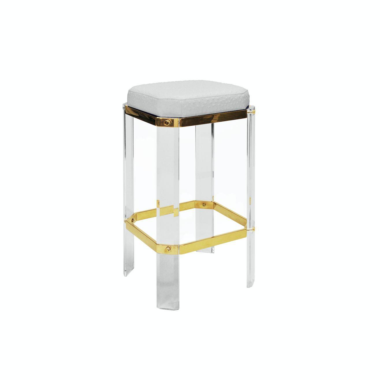 upholstered stools bar acrylic stool counter me photogiraffe padded