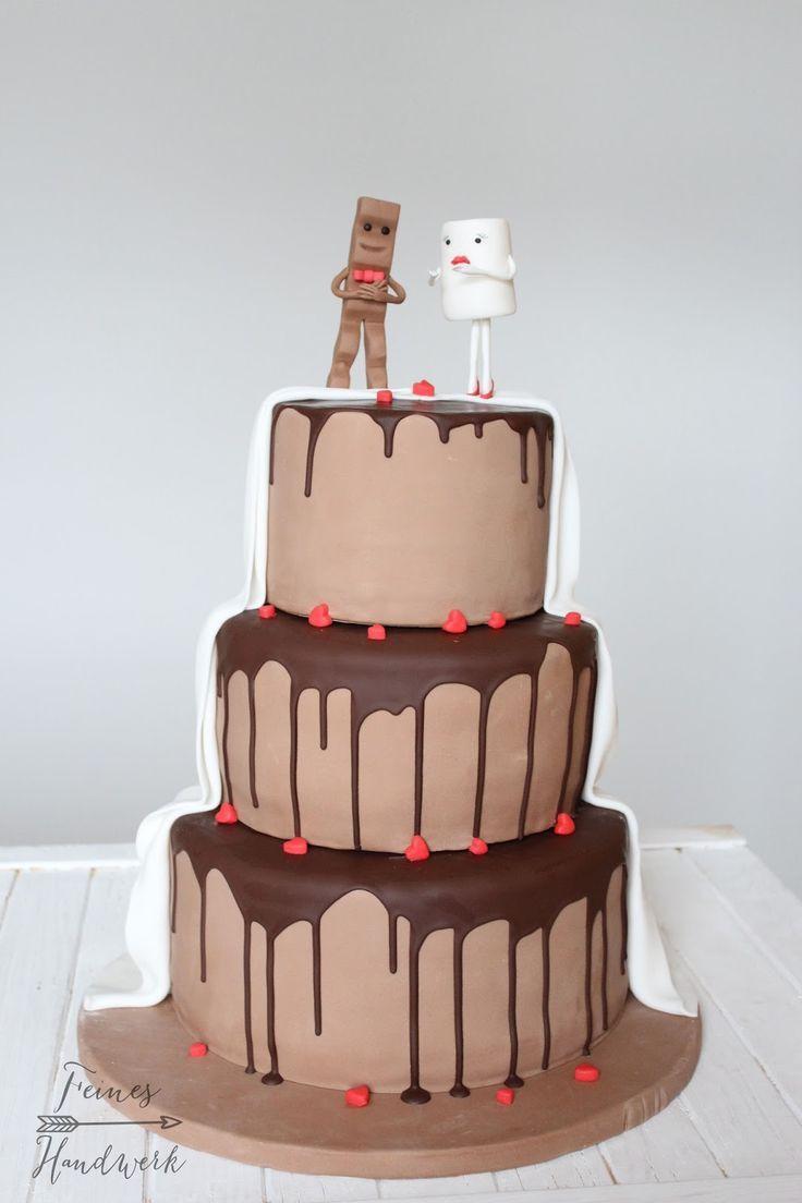 Backen Sie feines Handwerk, Bar, Kinderbar Kuchen, Hochzeitstorte, Hochzeitstorte   - Hochzeitstorten -