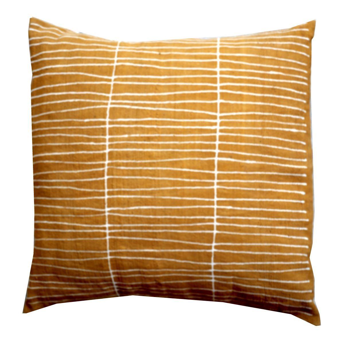 LINES MUDCLOTH pillow cover medium YELLOW Pillows