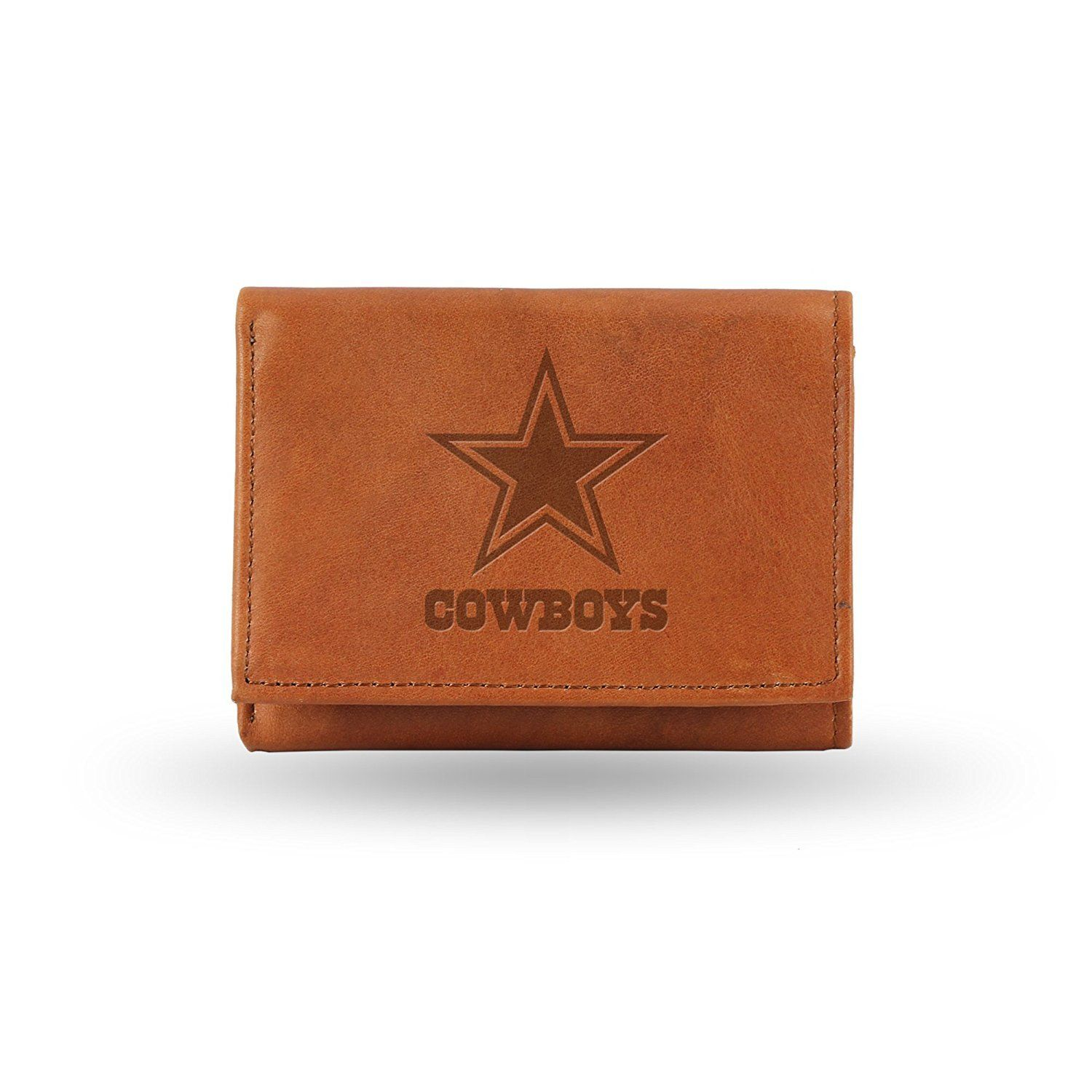Rico Dallas Cowboys NFL Embossed Leather Trifold Wallet