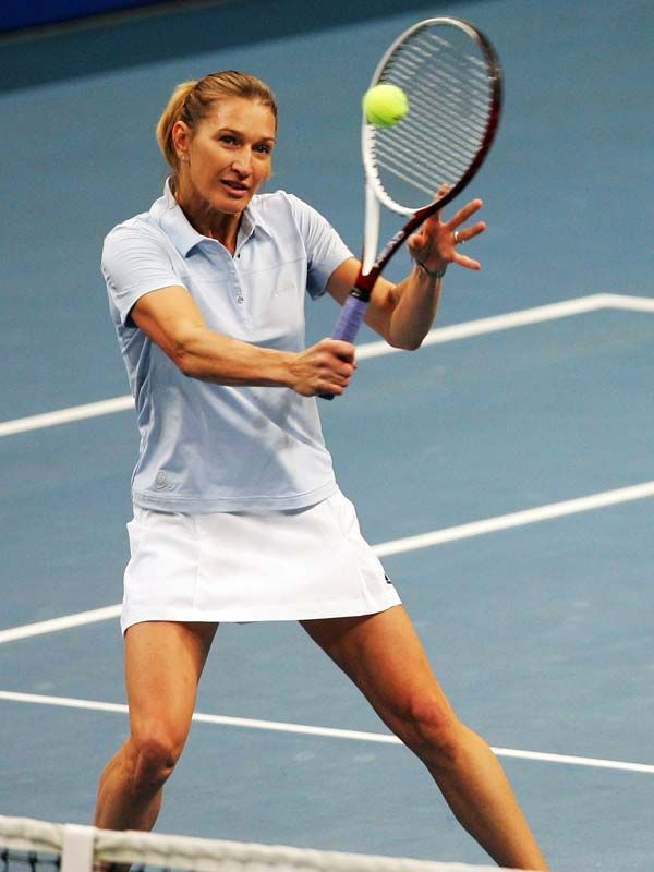 Steffi Was Always An Under Rated Volleyer She Was Often Criticised For Not Coming To The Net More Tennis Steffi Graf Tennis Legends