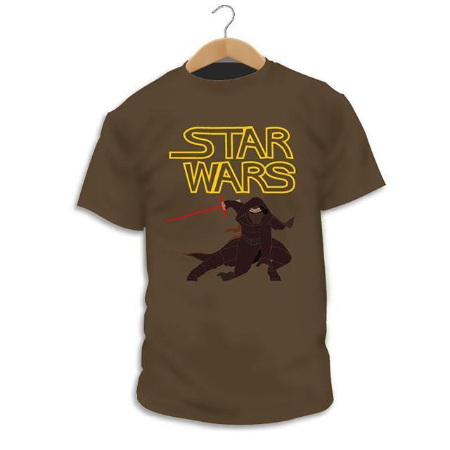 Camiseta de Hombre Star Wars Dark Vader Han Solo Fuerza Kylo REN Leia LeuqH