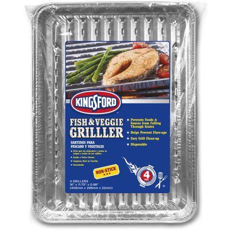 Kingsford 4pk Non-Stick Fish & Veggie Griller, Multicolor