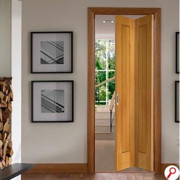 Bifold Door Repairs How To Troubleshoot And Fix Bifold Closet Doors Hunker Oak Bifold Doors Bifold Doors French Doors Interior