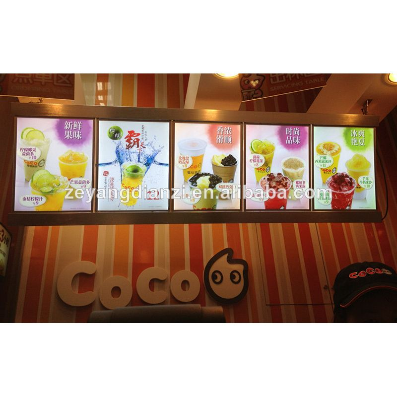 advertising china fast food restaurant equipment/LED Menu