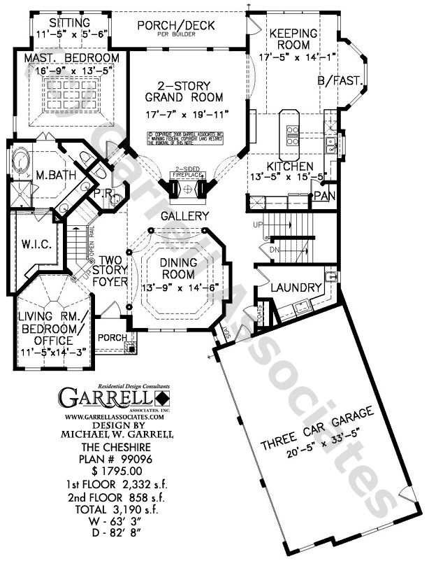 Cheshire House Plan 99096 - Garrell Associates, Inc.
