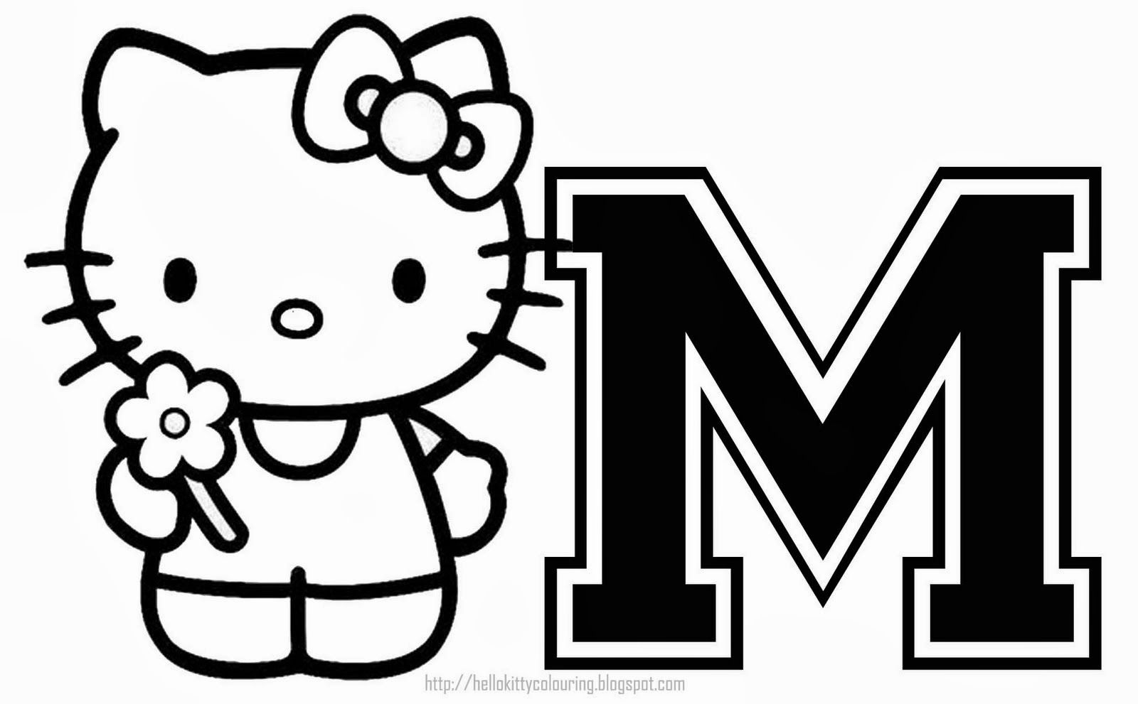 Pin By Grazyna Lilley On Alphabet Hello Kitty Coloring Hello Kitty Colouring Pages Kitty Coloring