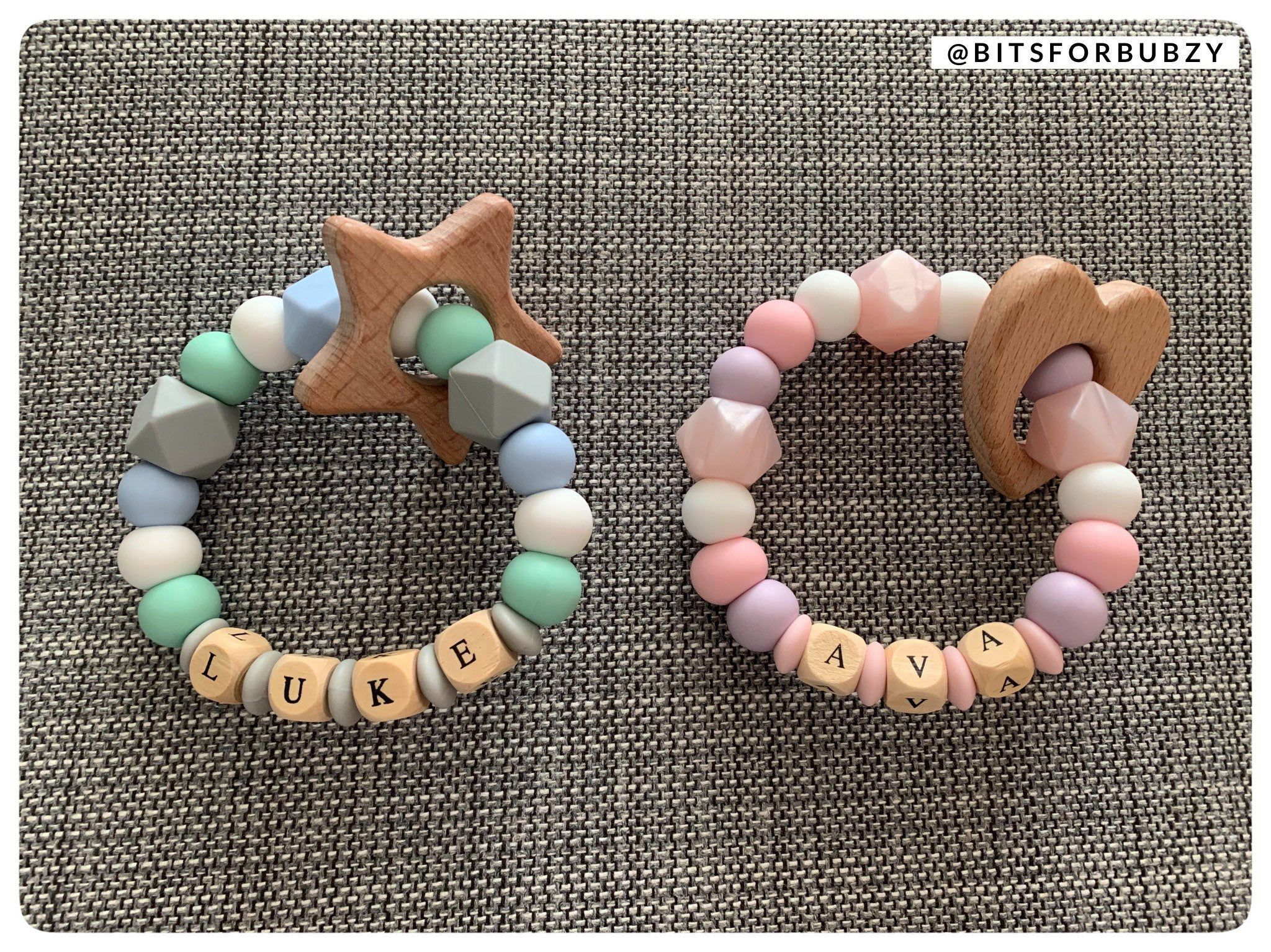 Soother Clip Personalised Dummy Clip And Teether Set Pacifier Clip Pink