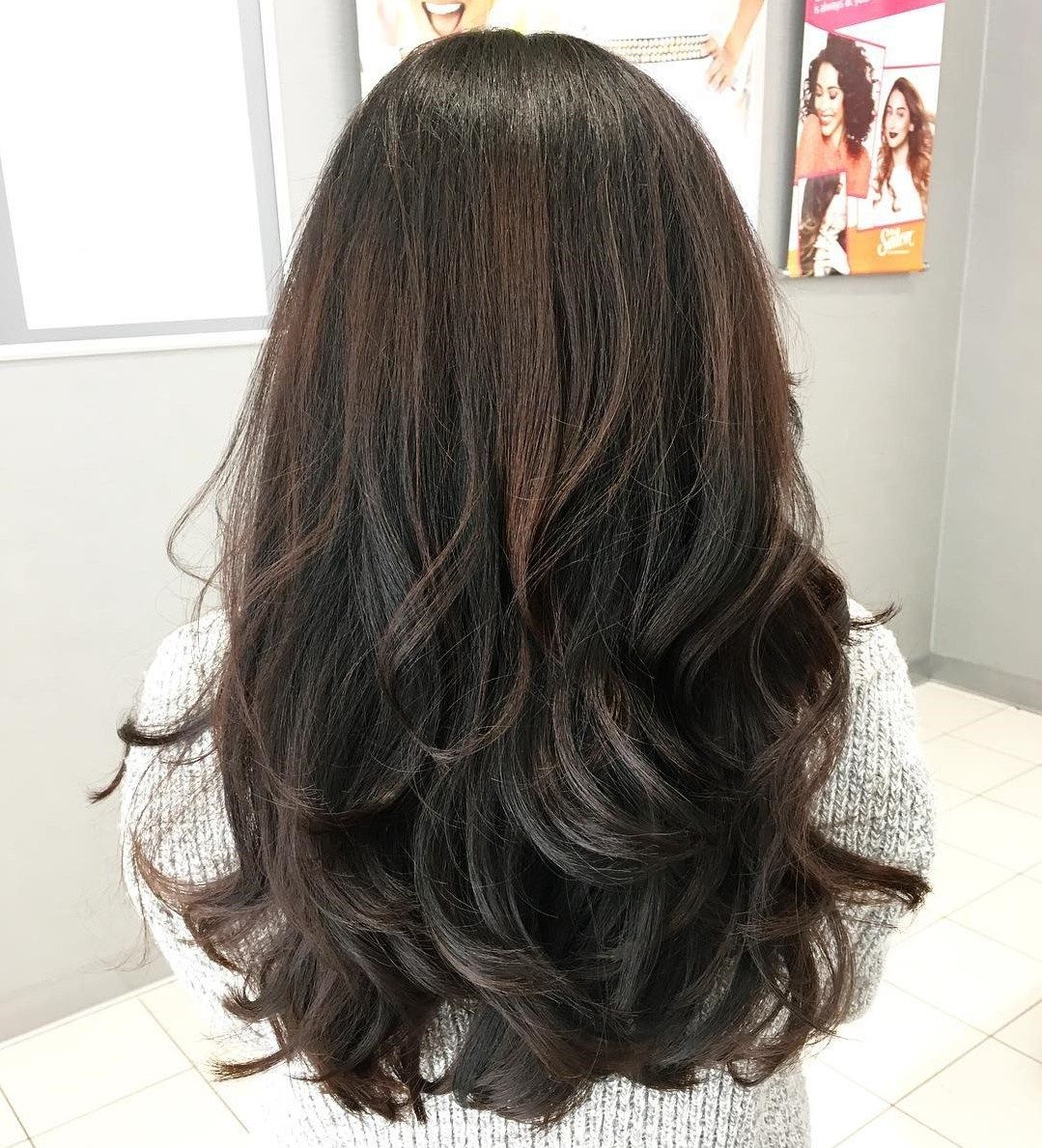 Black And Brown Thick Layered Cut