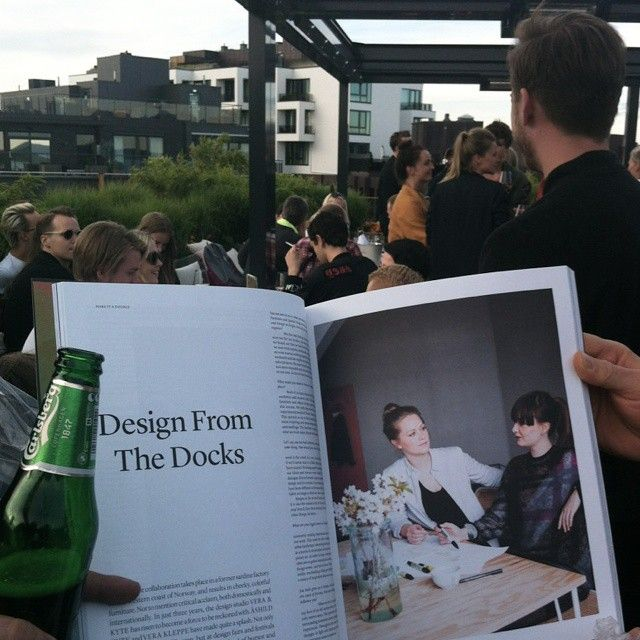 Launch party for the third edition of #anewtypeofimprint! Thanks for the feature! #designfromthedocks #rooftop #oslo