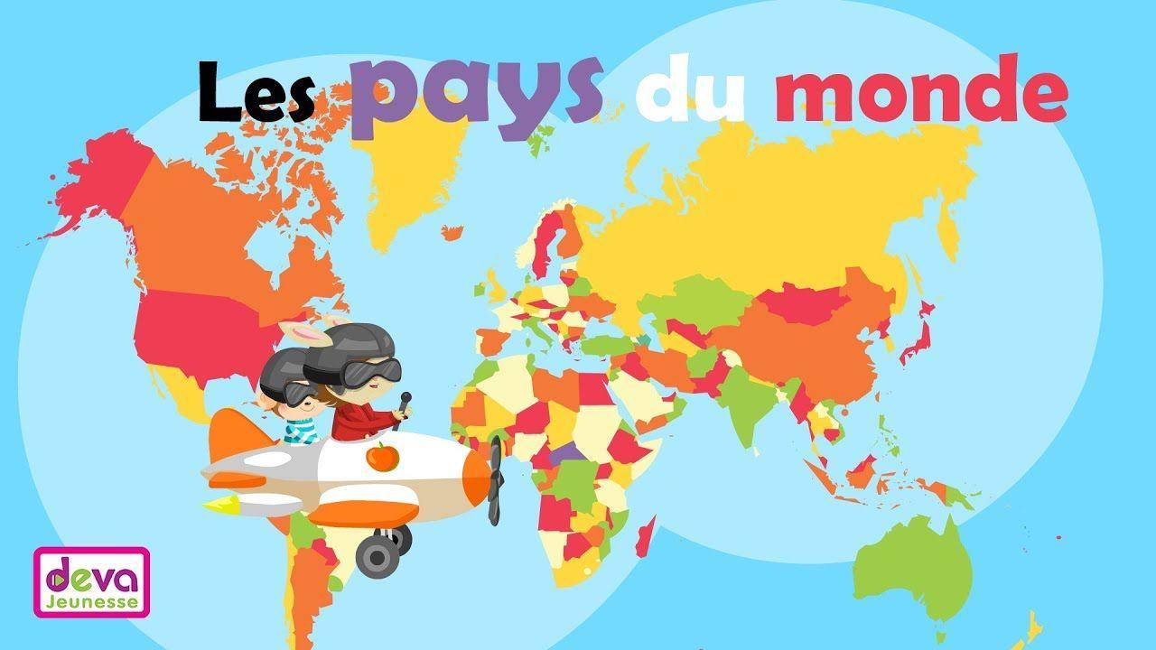 Les Pays Du Monde J Apprends La Geographie En Chanson
