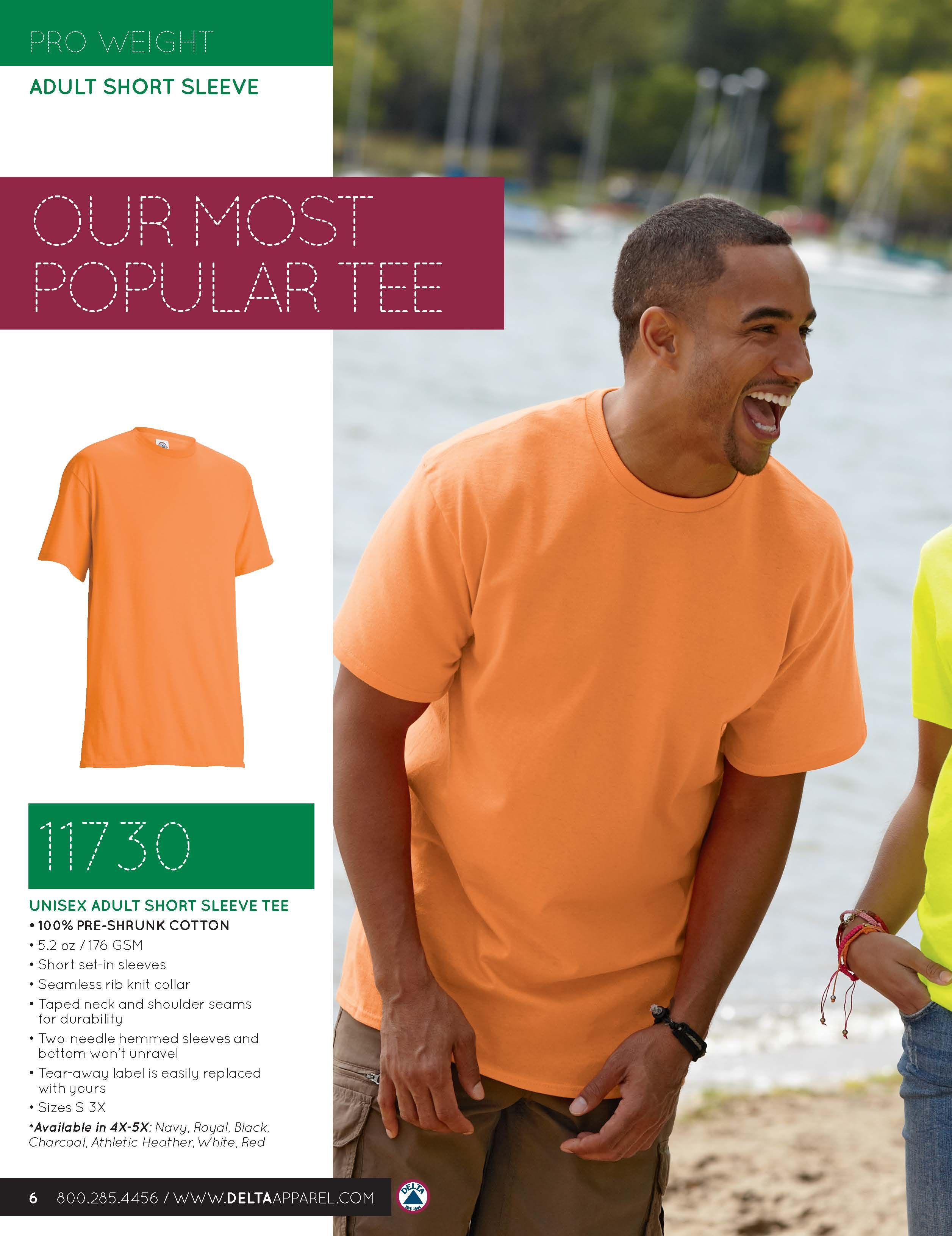 a133734a3 Pro Weight Adult Tee - 11730. Most Popular! Pro Weight Adult Tee - 11730  Catalog, Short Sleeve ...