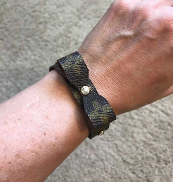 Handmade Louis Vuitton upcycled gold and by CharmingTies on Etsy