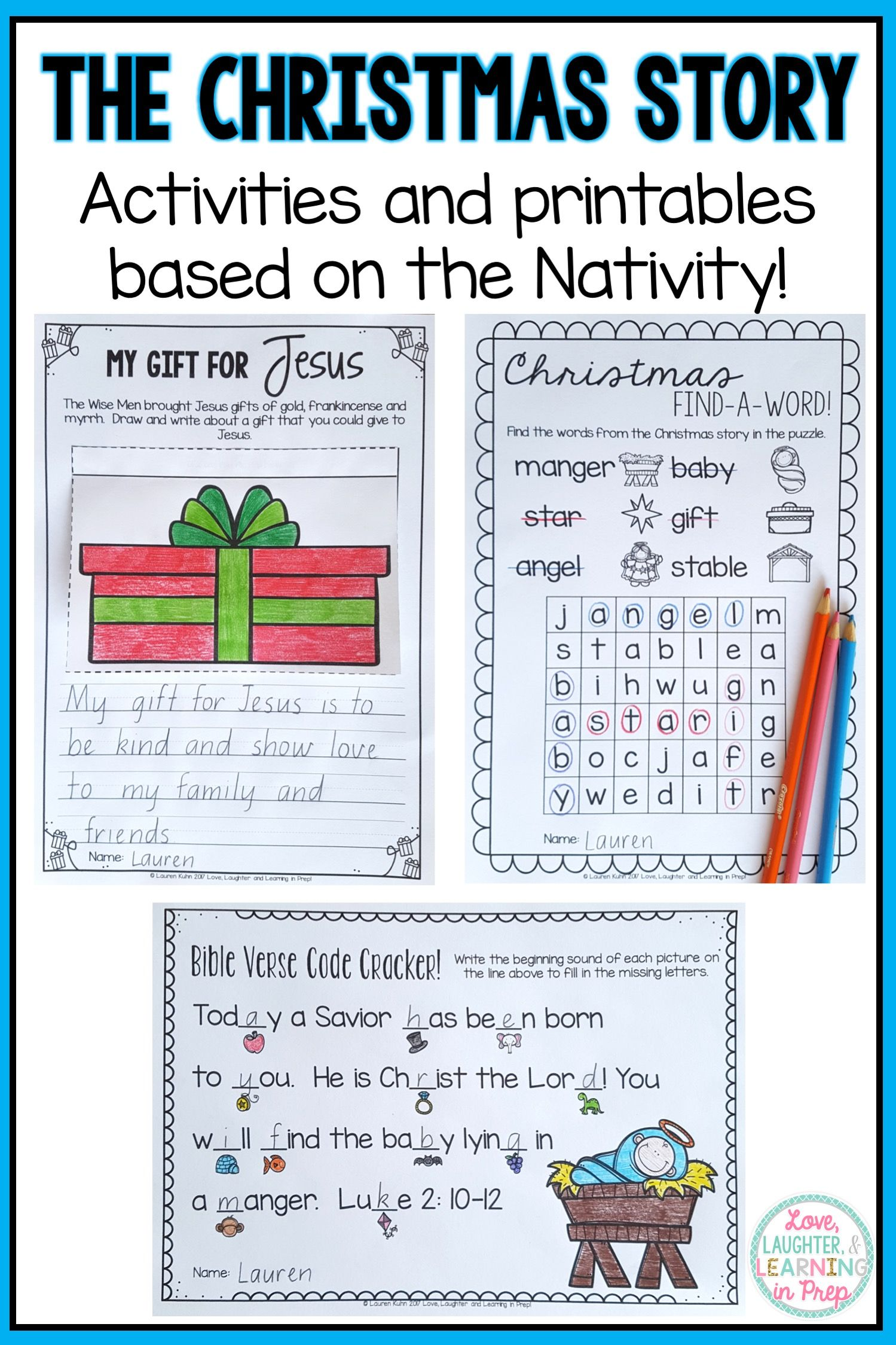 The Christmas Story Nativity Activities And Printables