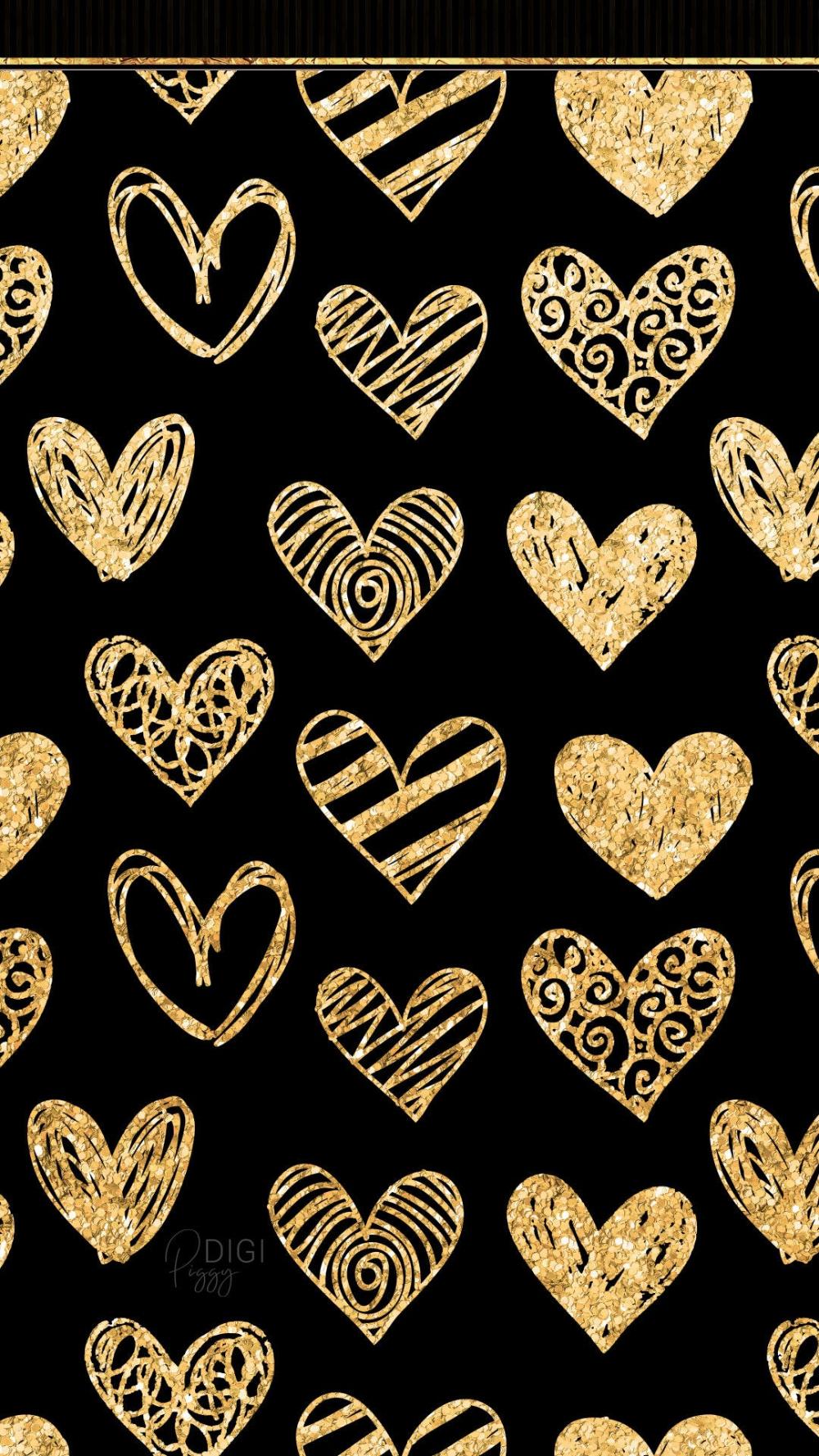 Votre Endroit Pour Acheter Et Vendre Toutes Les Choses Faites A La Main Gold Heart Wallpaper Glitter Phone Wallpaper Heart Wallpaper