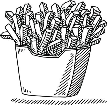 French Fries Fast Food Drawing | Clip Art | Pinterest | French fries ...
