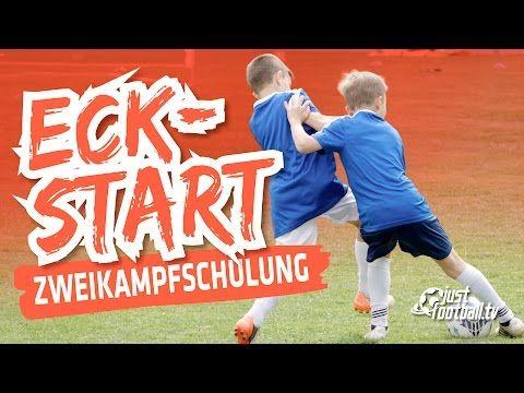 Fussballtraining: Eckstart - Zweikampfschulung - Taktik - YouTube