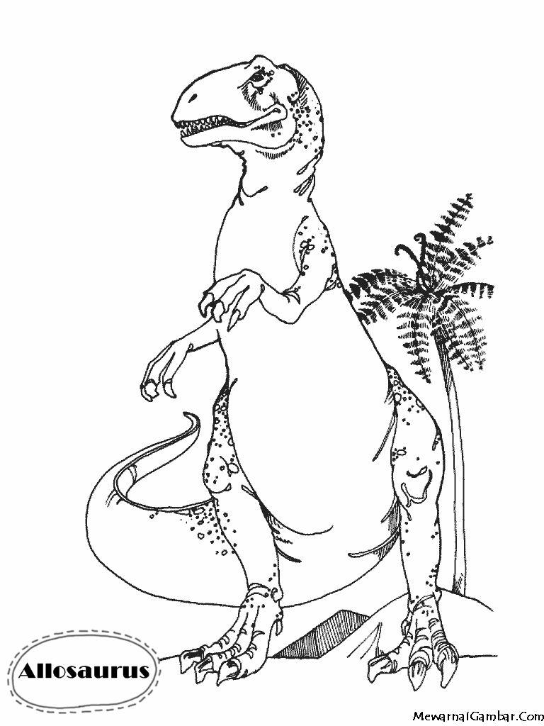 Mewarnai Gambar Allosaurus | Coloring Pages | Pinterest | Free ...