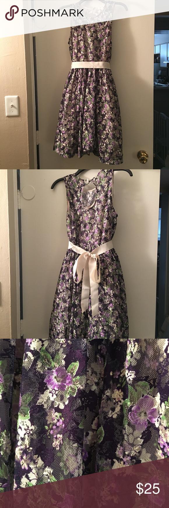 Modcloth Pre Walmart Dress Brand Freeway Never Worn Purple Flowered Lace Dress With White Ribbon Side Zip Mod Cloth Dresses Walmart Dresses Dress Brands [ 1740 x 580 Pixel ]