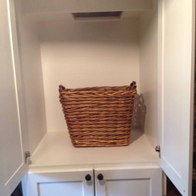 Bottom Of Laundry Chute Love That It S Shut Away In A Cupboard Laundry Room Design Laundry Chute Dream Laundry Room