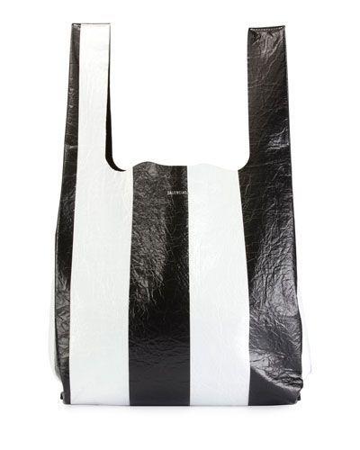 403c56841b V3X4Q Balenciaga Supermarket Striped Shopper Hobo Bag