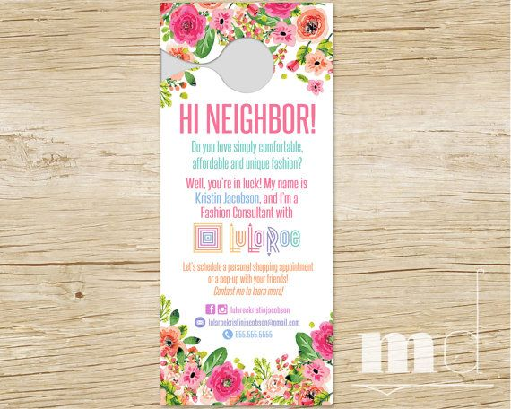 Personalized Door Hanger for Small Business, LuLaRoe Door Hanger - personalized invoices