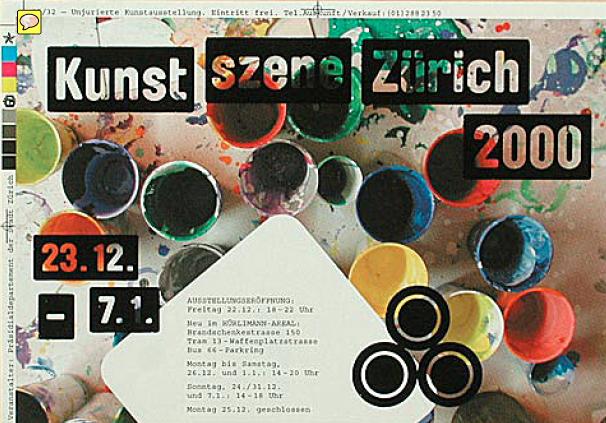 Kunst szene Zürich 2000 - elektrosmog